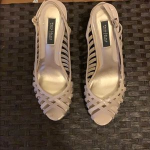White House Black Market cream heels